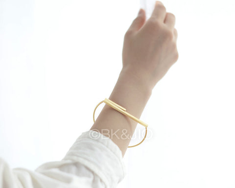 Horizontal Bar Bangle Bracelet