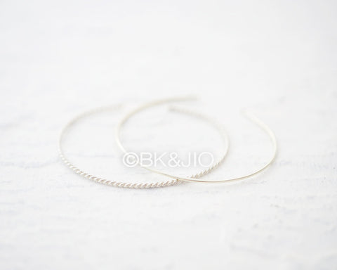 Sterling Silver Thin or Twisted Wire Bangle