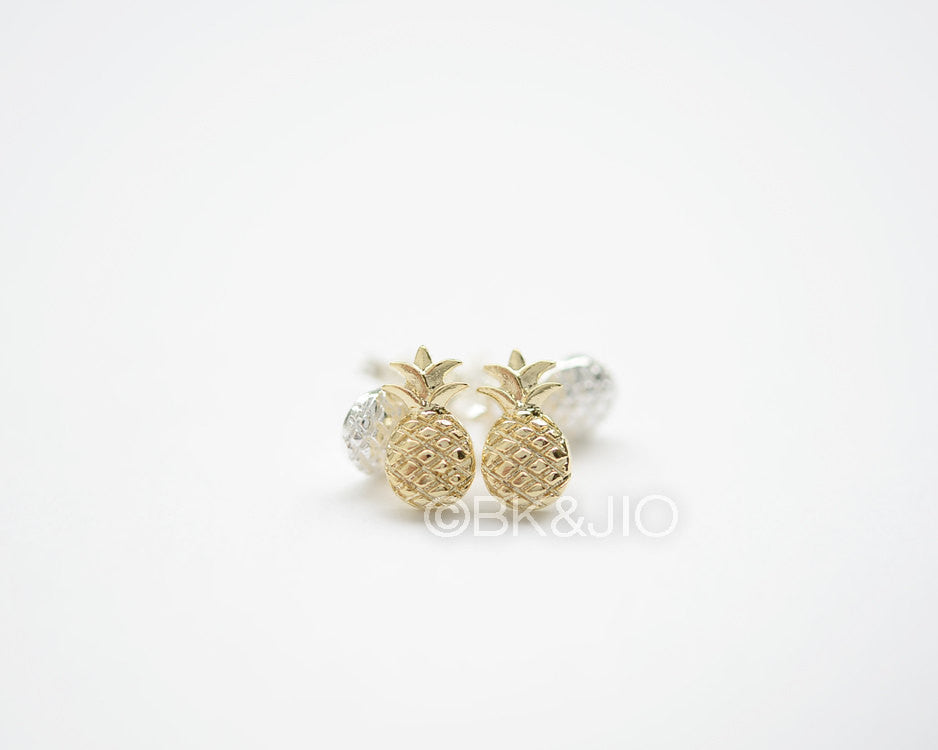 Puffy Pineapple Stud Earrings