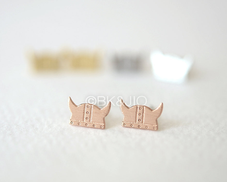 Viking Helmet Stud Earrings