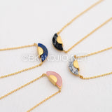Geometric Gemstone Necklace