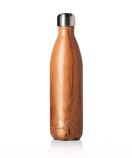 Insulated Drink Bottle Woodgrain 500ml