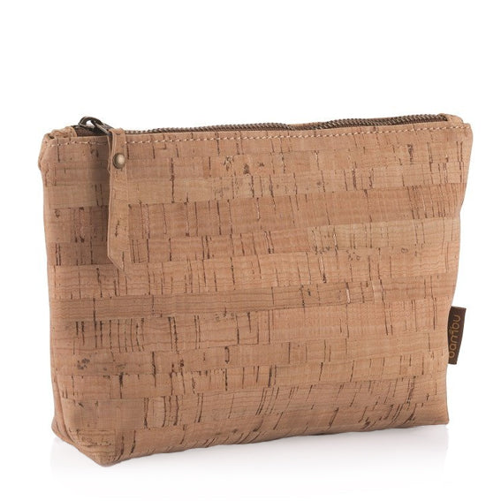Cork Fabric Travel Zip Pouch