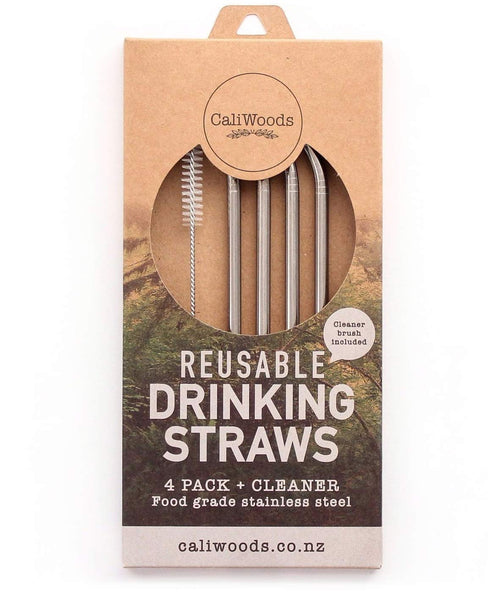 CaliWoods Reusable Drinking Straws 4pk