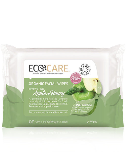 EcoCare Organic Facial Wipes Apple & Honey