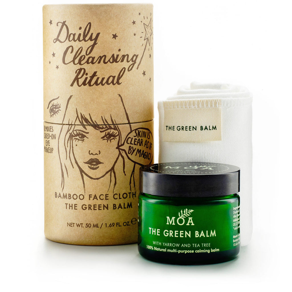 Daily Cleansing Ritual Cleansing Balm & Bamboo Face Cloth Set