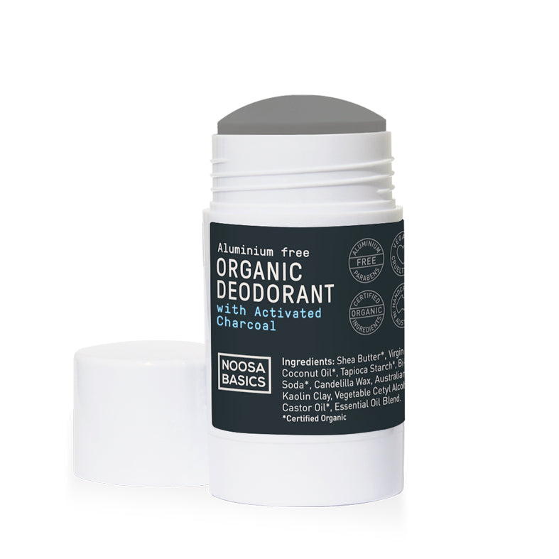 Noosa Basics Activated Charcoal Deodorant Stick