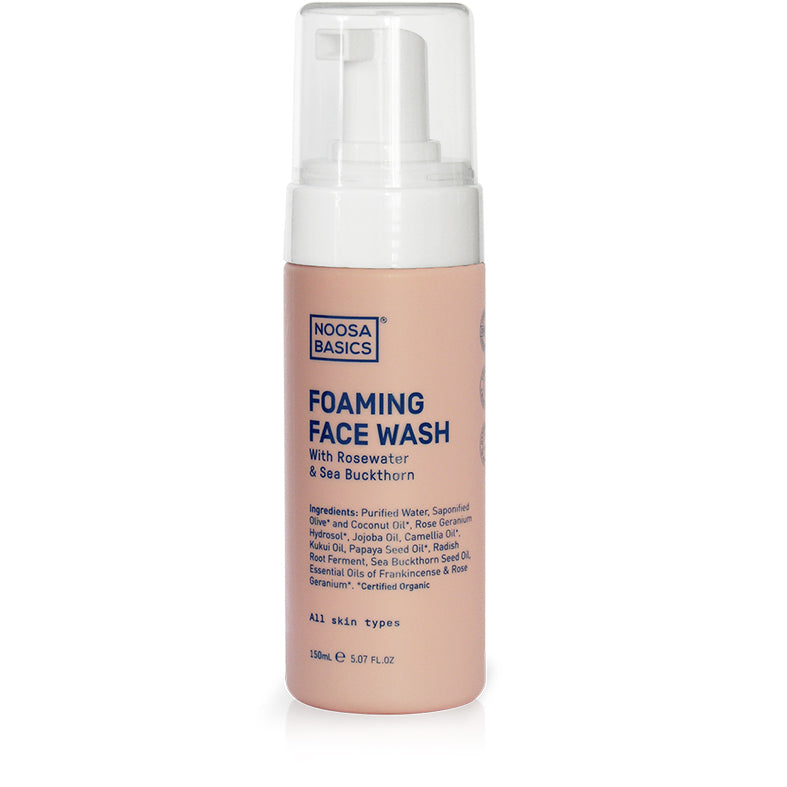 Foaming Face Wash Rosewater & Sea Buckthorn