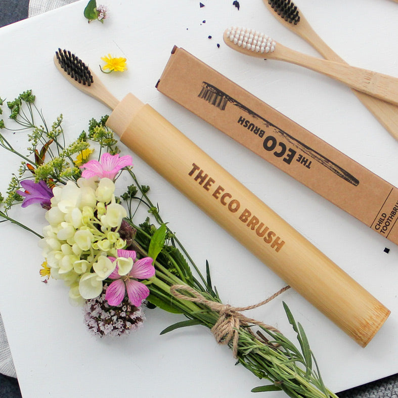 Bamboo Toothbrush Travel Case