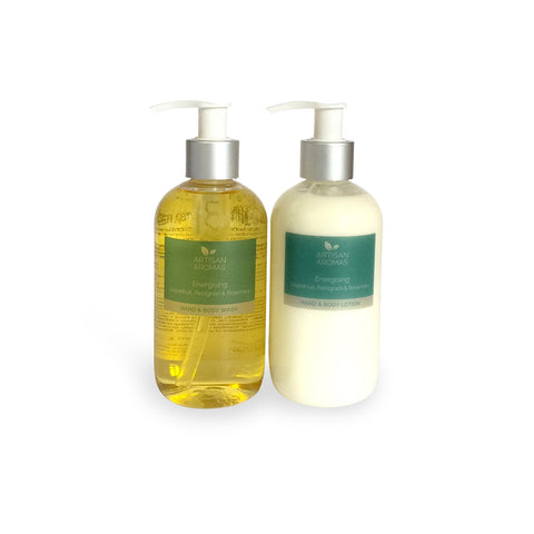 Energising hand & body wash/lotion duo