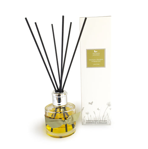 Uplifting reed diffuser - Geranium, Mandarin and Spearmint