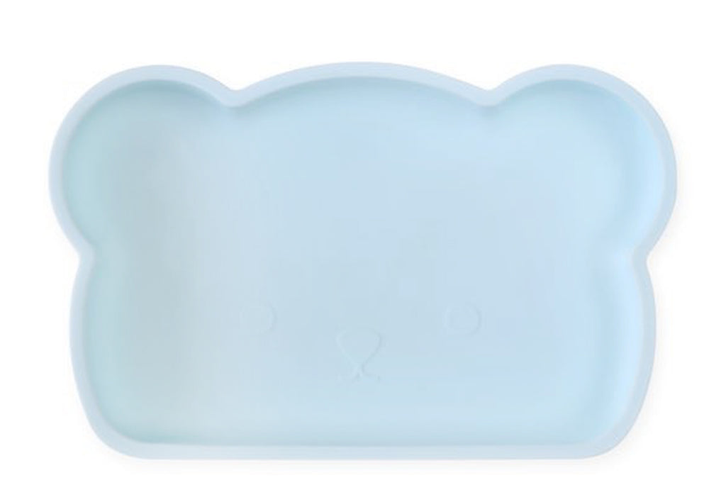 Bear Silicone Plate . Blue