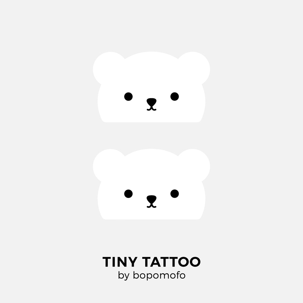 Baby Bear . Water Print Tattoo