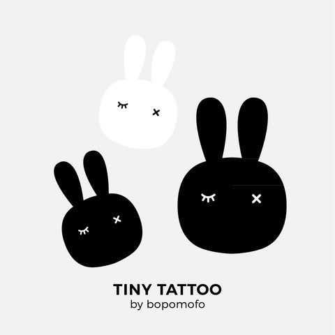 Bunnies . Water Print Tattoo