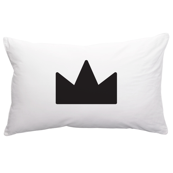 Pillowcase . Crown (Black)