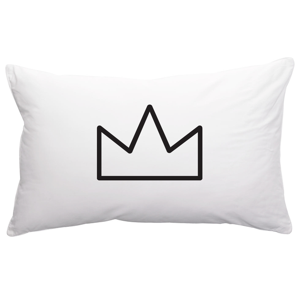 Pillowcase . Crown (White)