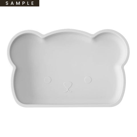 Bear Silicone Plate . Grey (SAMPLE)