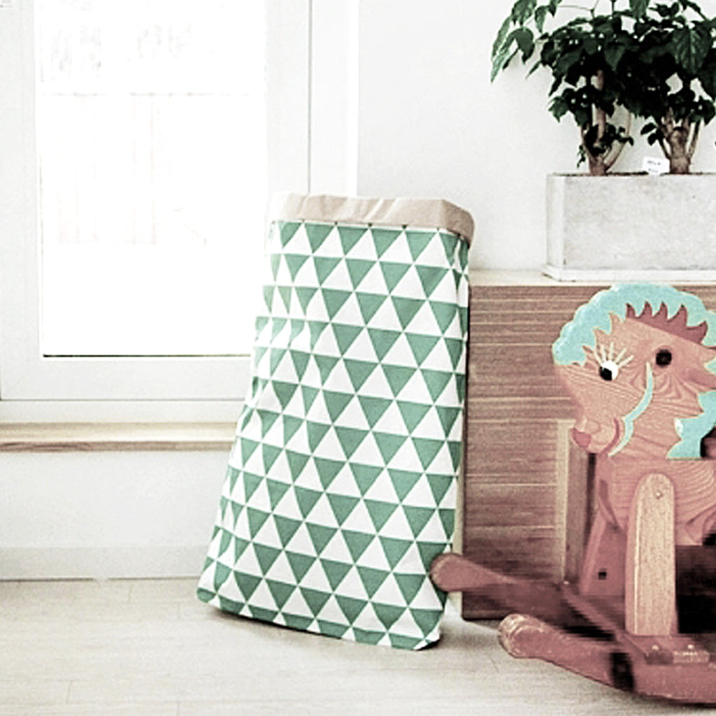 Green Traingle Paper Storage Bag