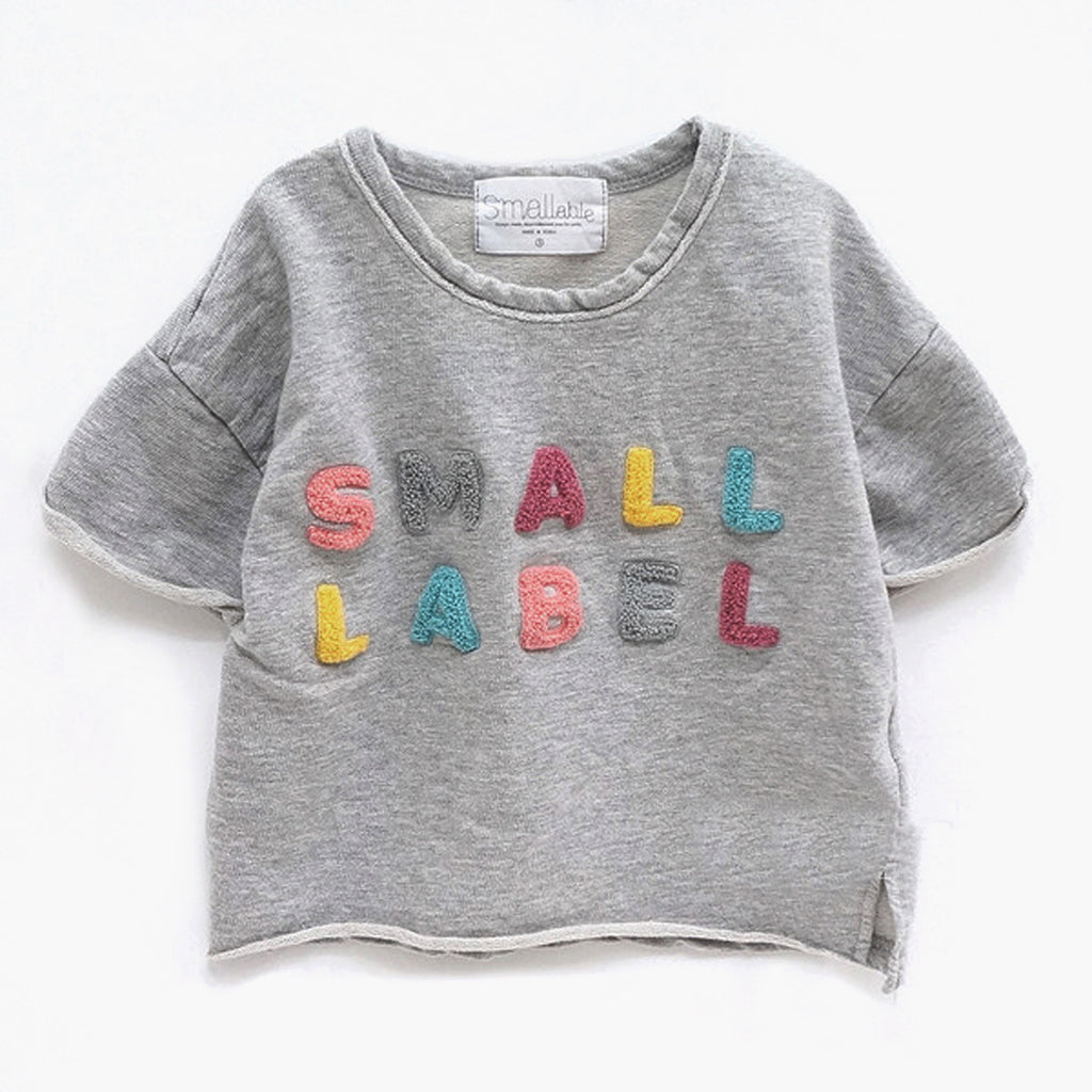 Small Label Tee Grey