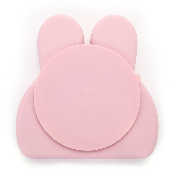 Bunny Silicone Plate . Pale Dogwood