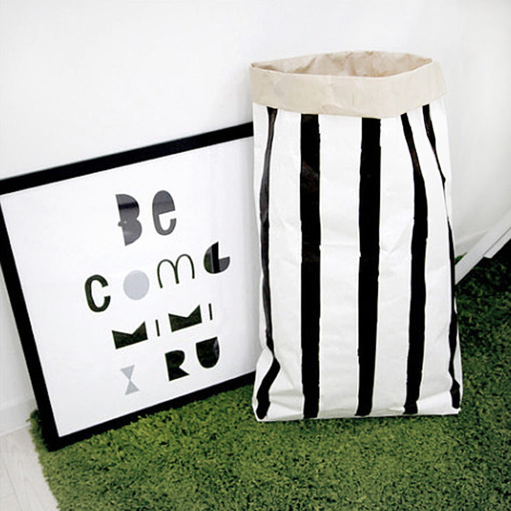 Stripes Paper Storage Bag