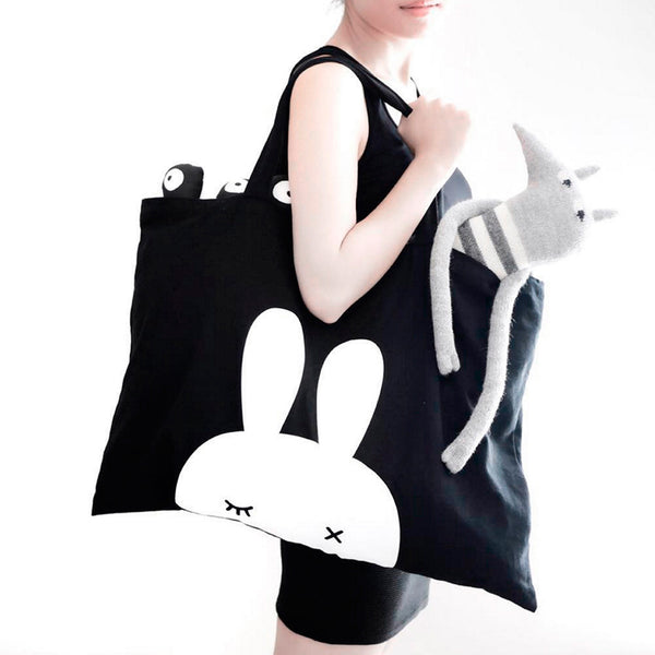 BunnyEar . Tote Bag . Black