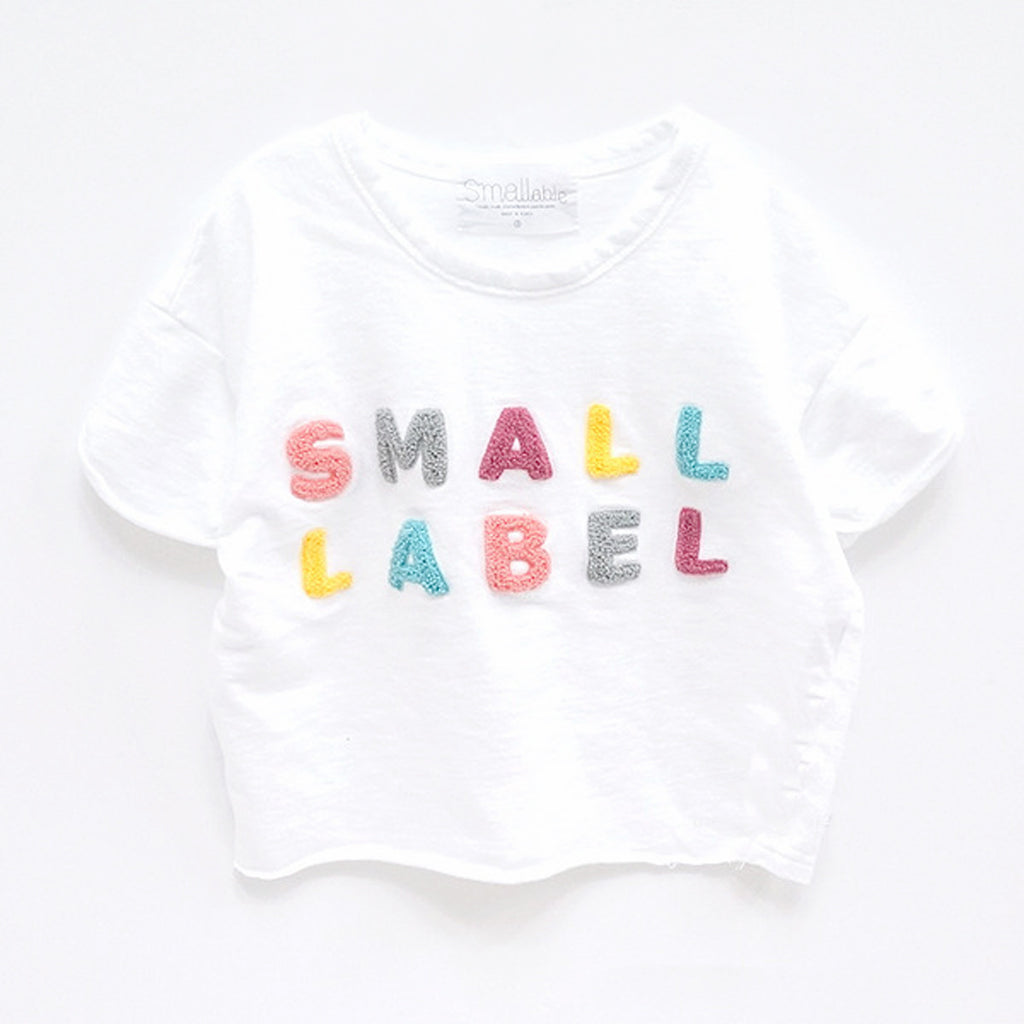 Small Label Tee White