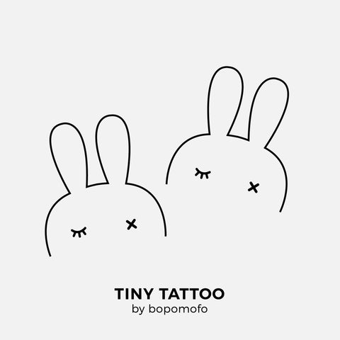 BunnyEar . Water Print Tattoo