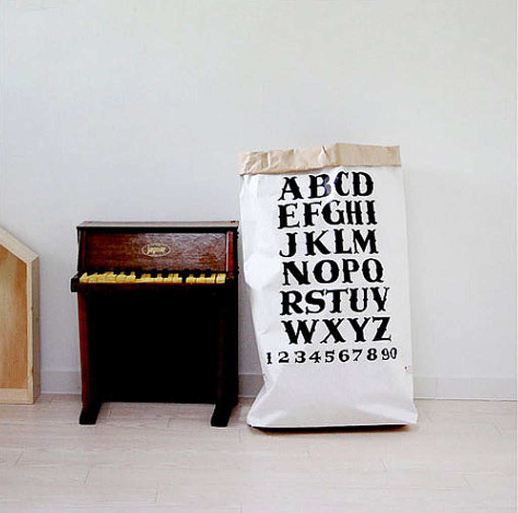 Alphabet Paper Storage Bag