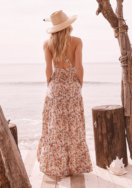 Helena Maxi Apron Dress | Natural