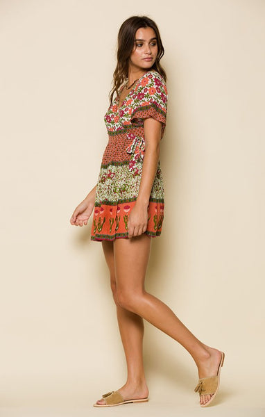 Enchanted Forest Mini Wrap Dress