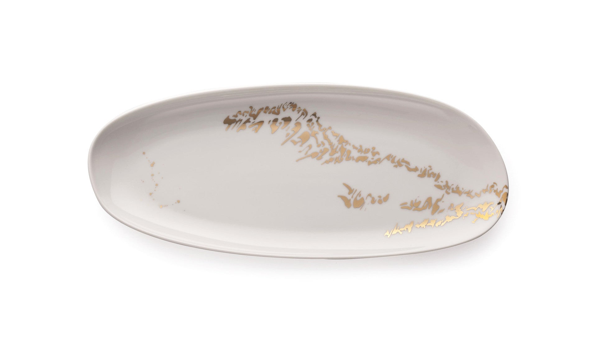 Oval serving dish - Enigmatic script 1