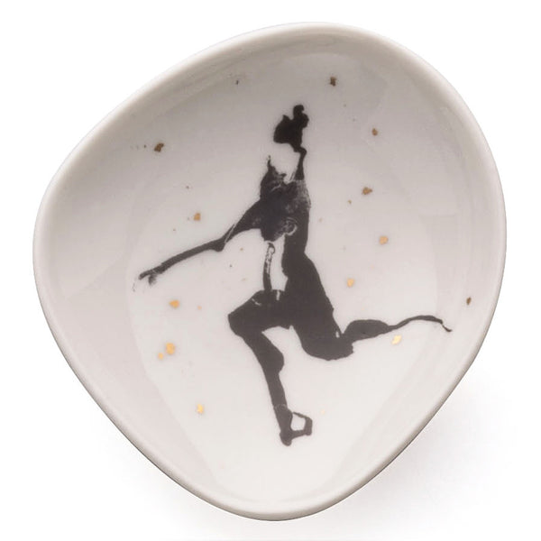 Six porcelain saucers - Women in space 2