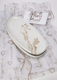 Two oval serving dishes - Enigmatic script set