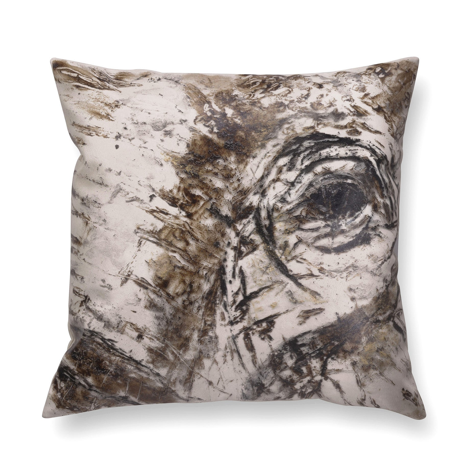 Illustrated contemporary pillow - Gaze 1