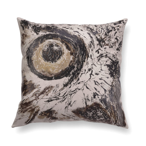 Illustrated contemporary pillow - Gaze 2