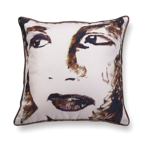 Velvet throw pillow - Big girl 1