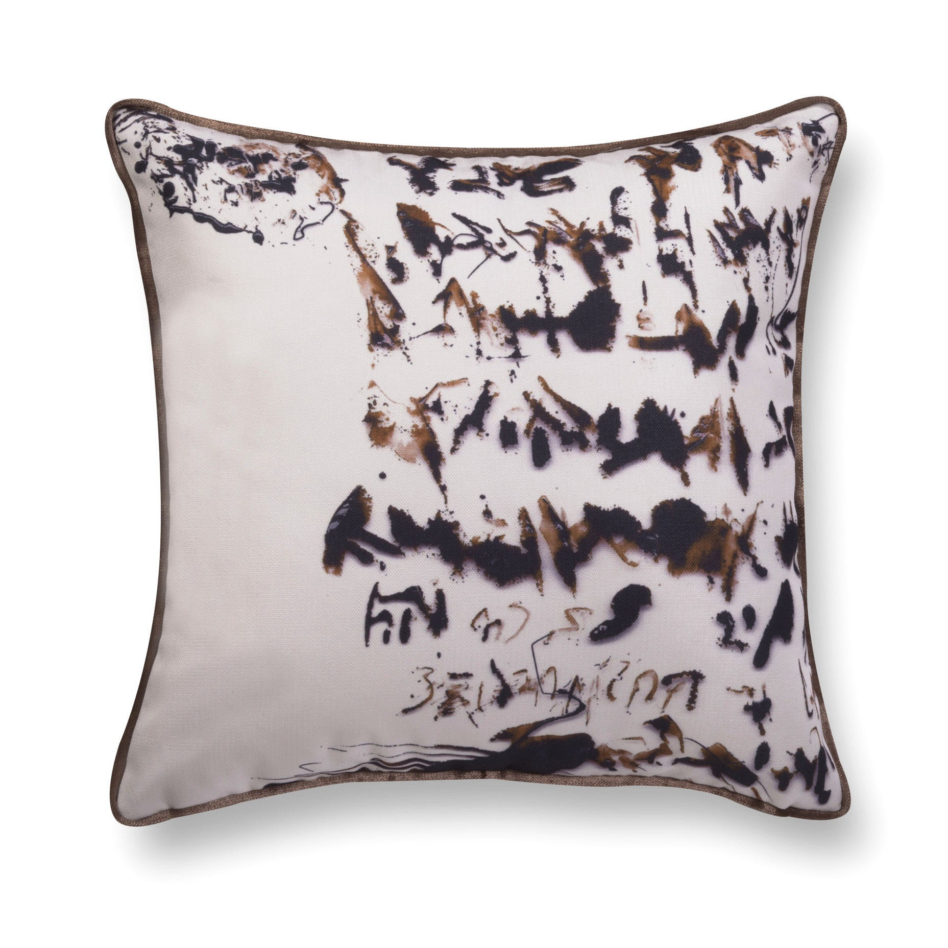 Velvet throw pillow - Enigmatic Script 7