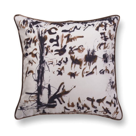 Velvet throw pillow - Enigmatic Script 8