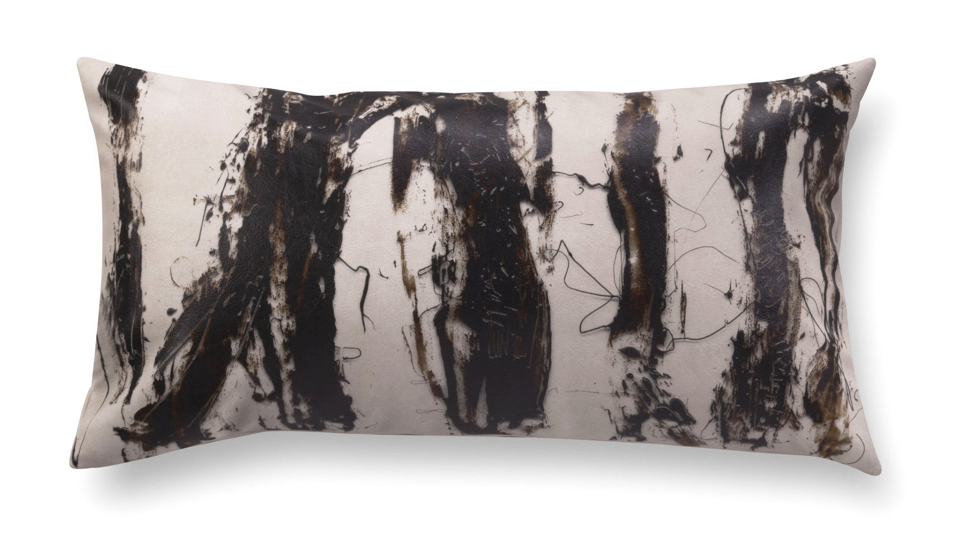 Contemporary rectangle pillow - Enigmatic Script 1