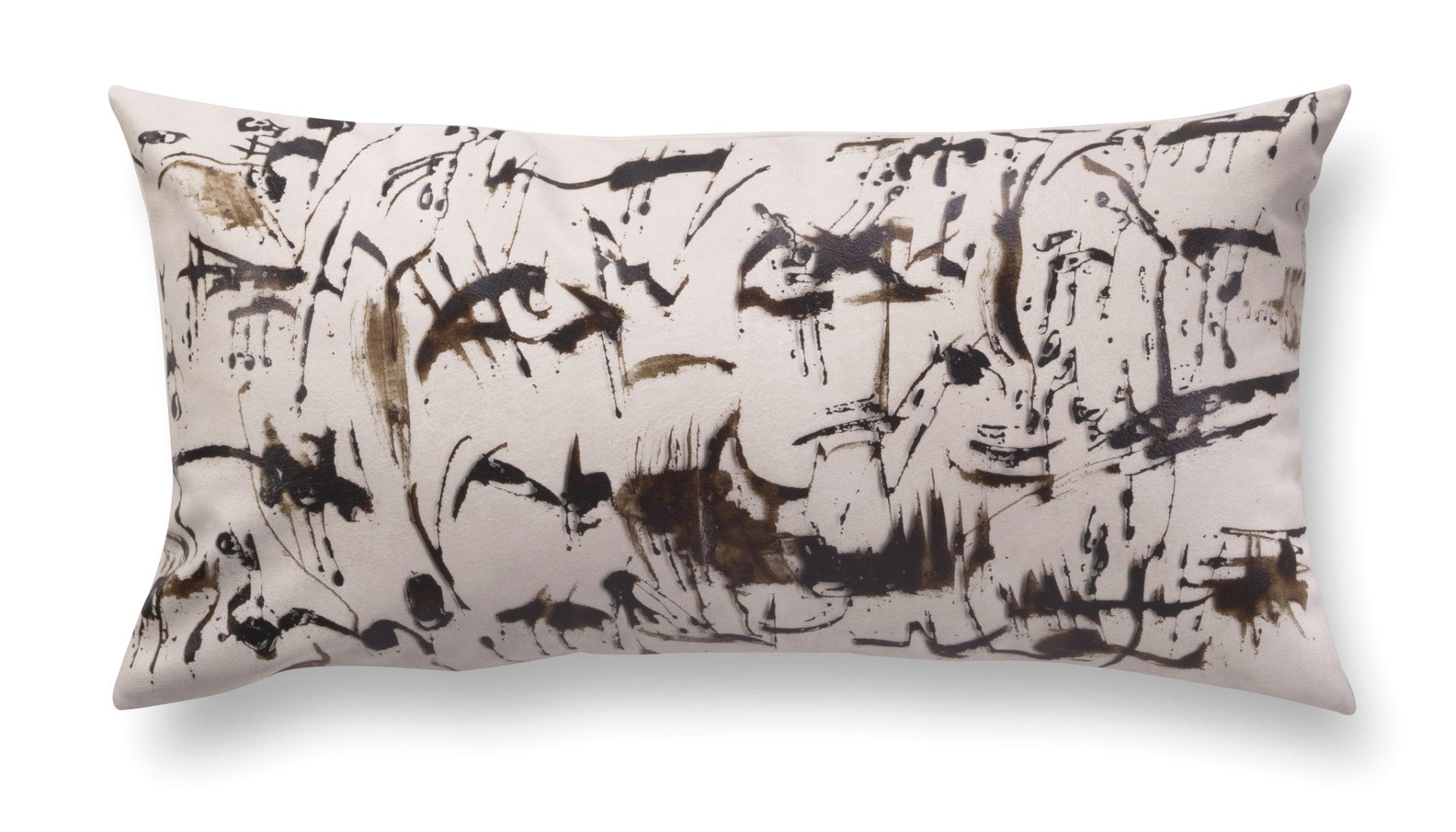 Contemporary rectangle pillow - Enigmatic Script 3