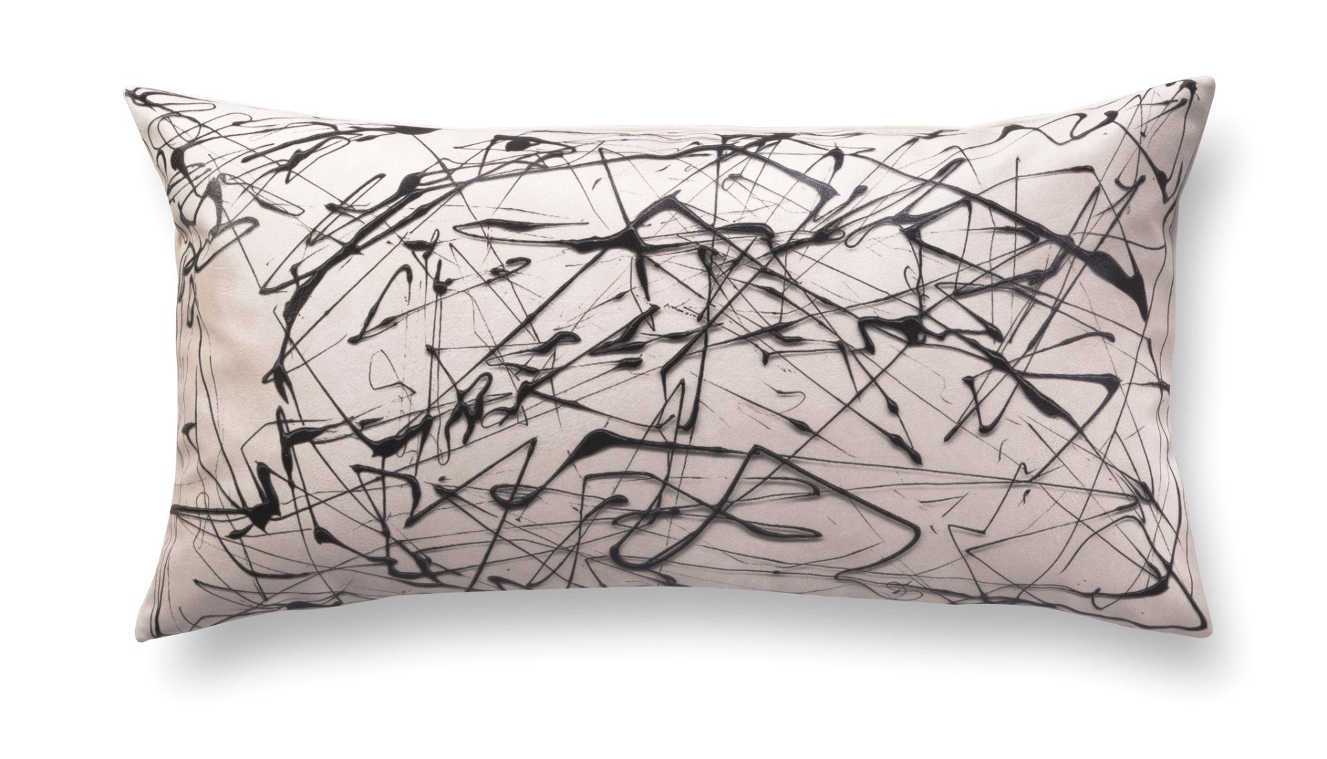 Contemporary rectangle pillow - Enigmatic Script 5