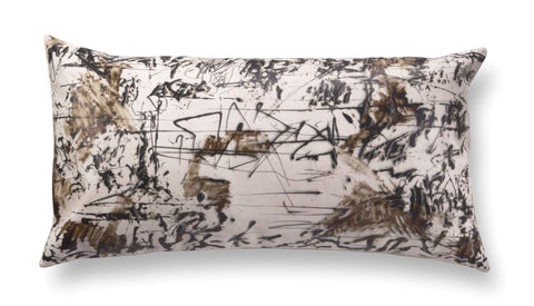 Contemporary rectangle pillow - Enigmatic Script 4