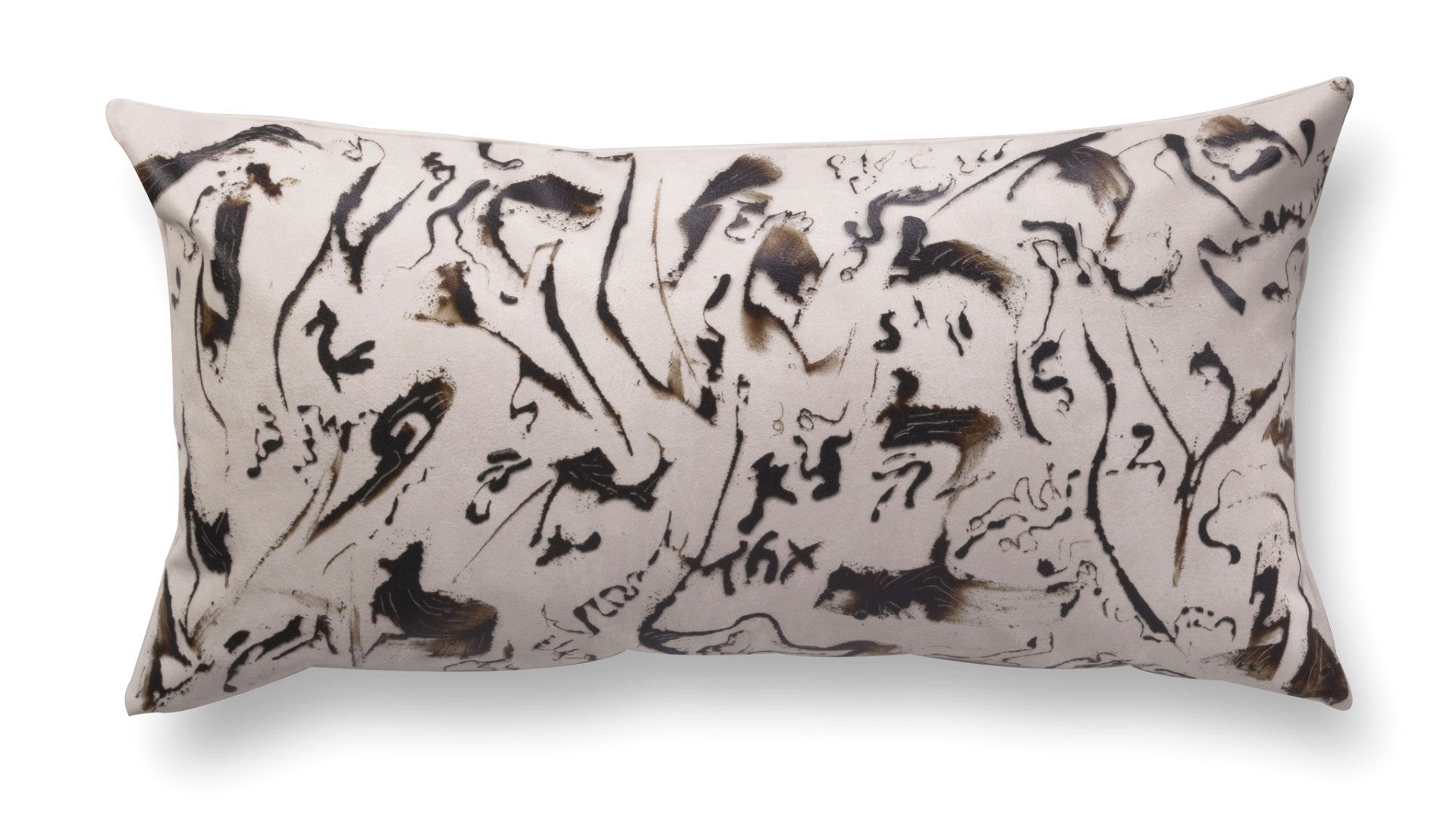 Contemporary rectangle pillow - Enigmatic Script 6