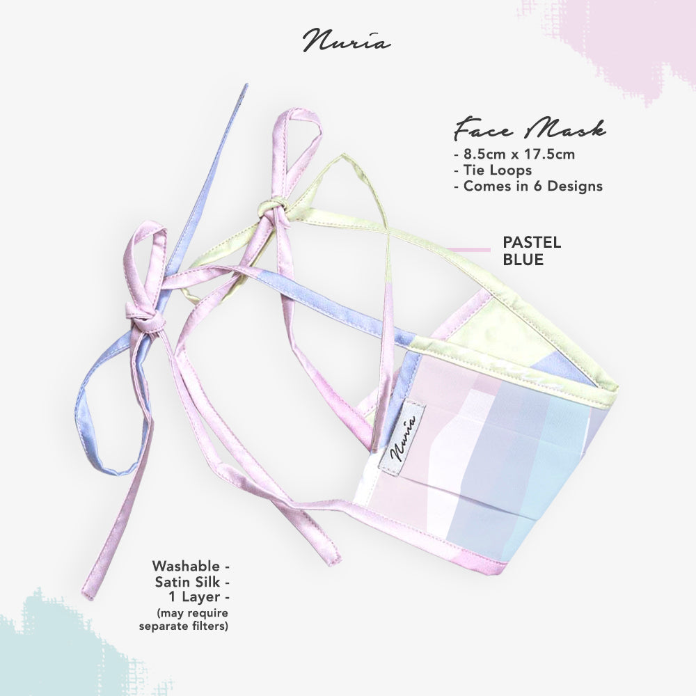 Pastel Purple Geometry Face Mask