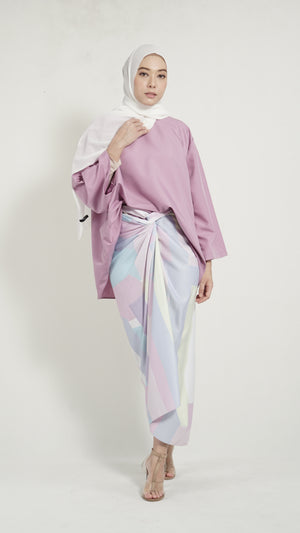 Pareo Pastel Purple Geometry