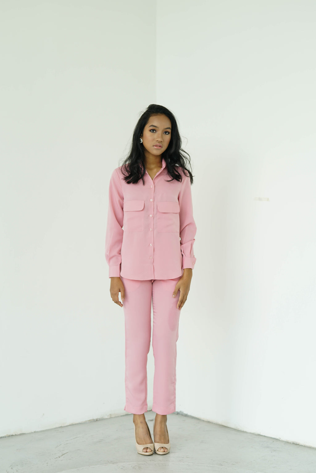 7a72ea8a5f7dc  PRE ORDER  Pastel Pink Tapered Pants