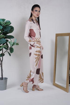 Eva Silk Pyjama Pants Blush