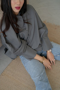 LIV Blouse in Grey