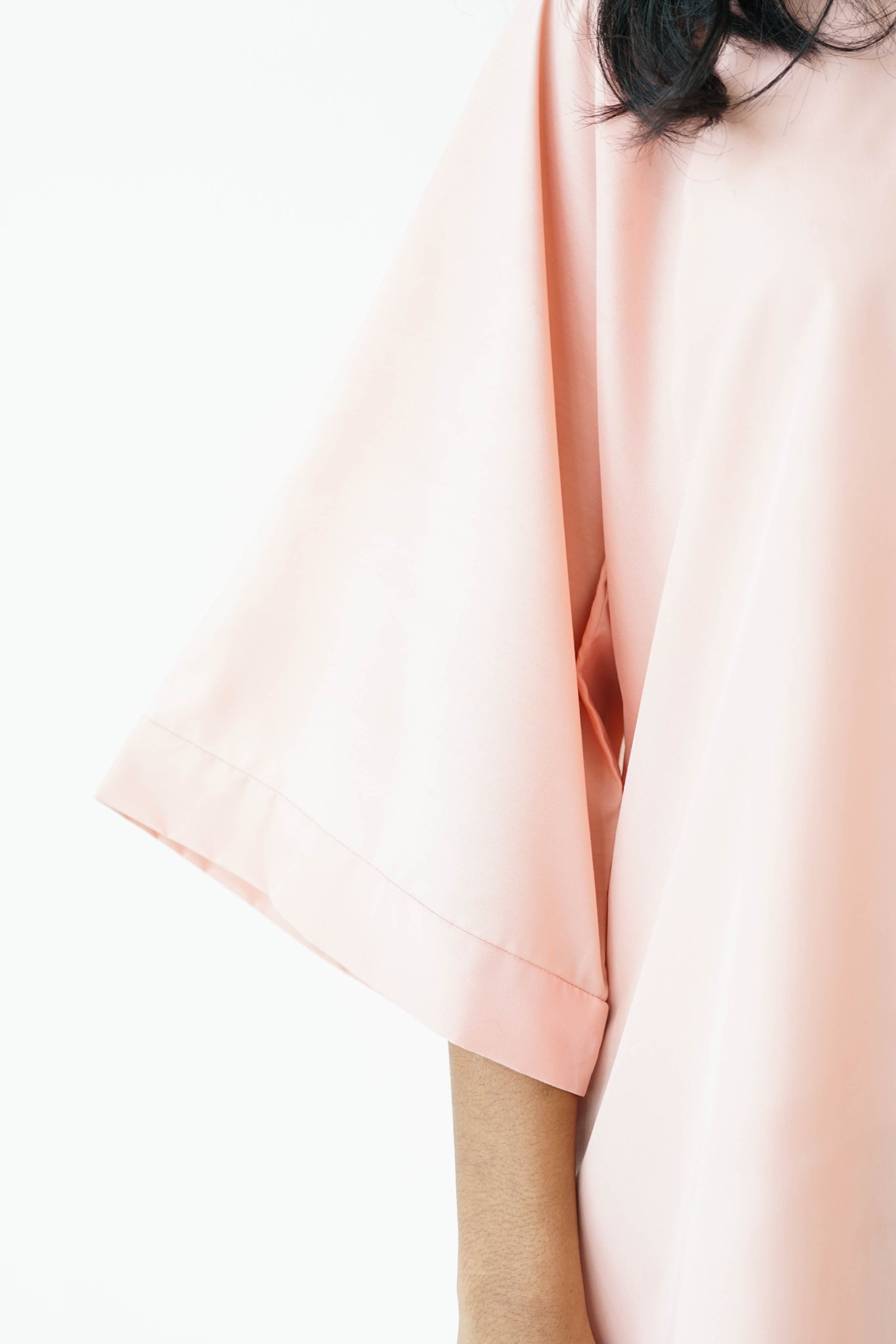 [PRE ORDER] Pastel Peach High Low Box Cotton Top